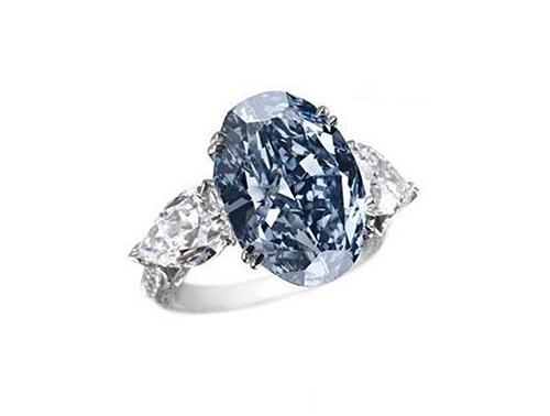 เครื่องเพชร แพง , แหวนเพชร Chopard's Blue Diamond Ring