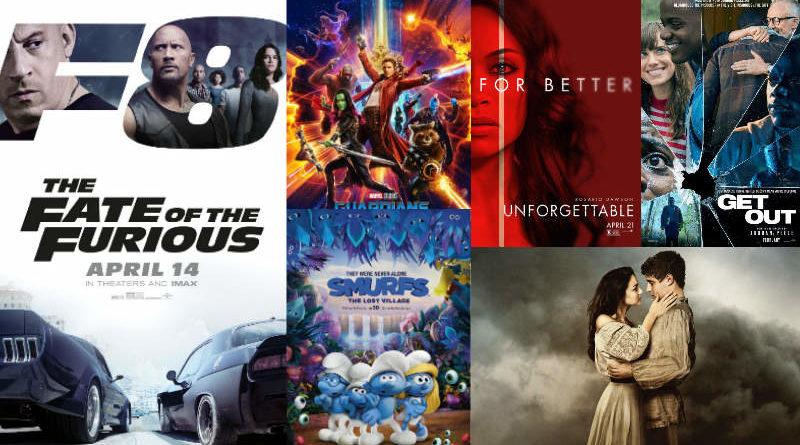 อัปเดต 10 อันดับหนังใหม่น่าดู ประจำเดือนเมษายน 2560