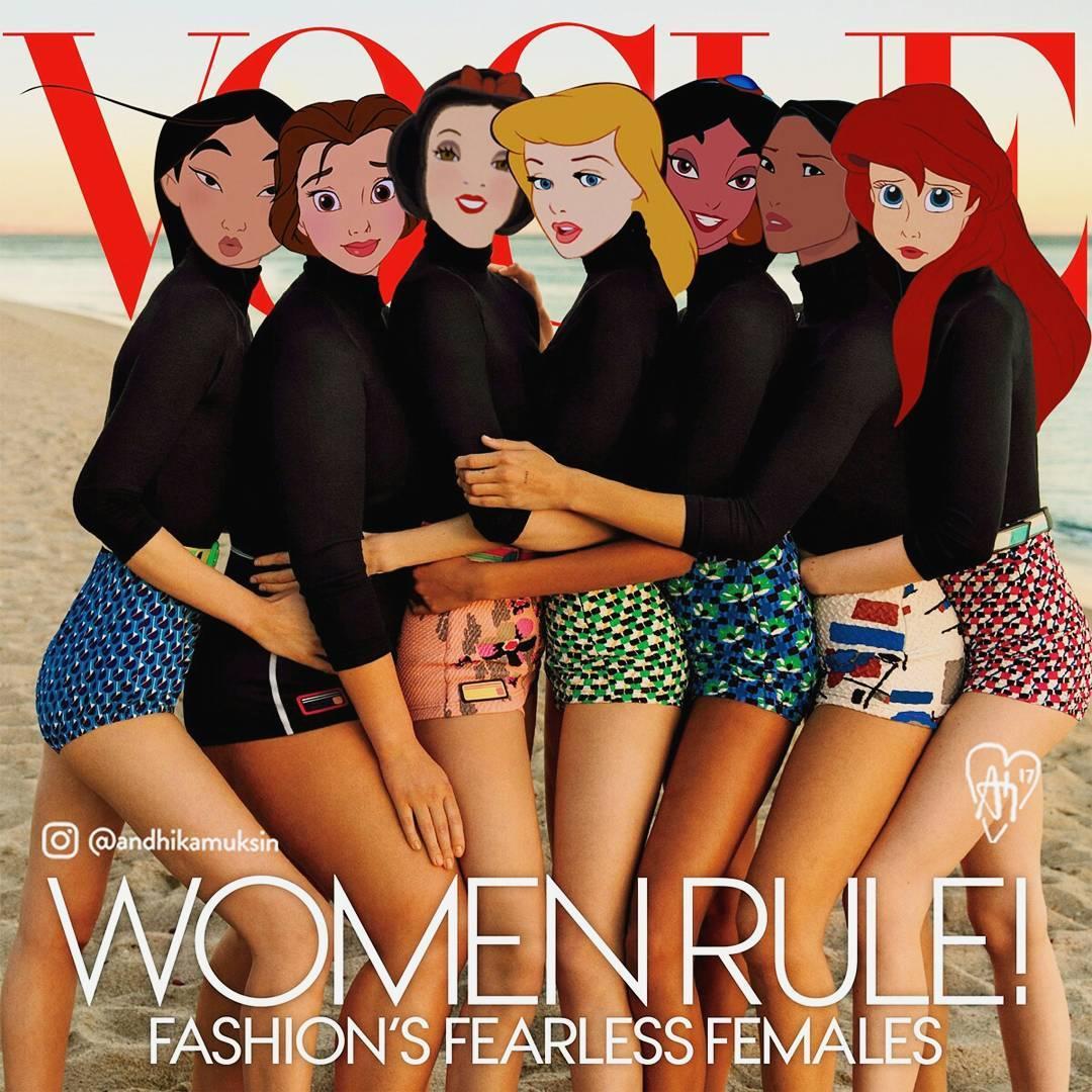 เหล่าเจ้าหญิงดิสนีย์บนปกนิตยสารแฟชั่นทรงอิทธิพล VOGUE