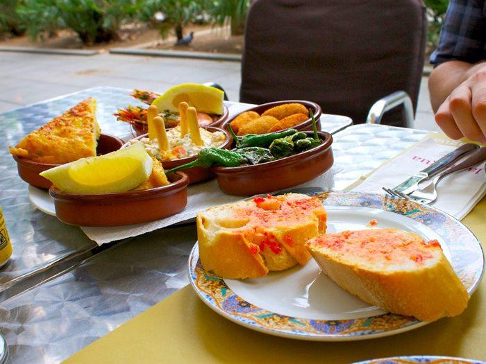 สเปน-มื้อเที่ยง