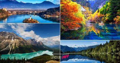 """งามดุจศิลปะชิ้นเอก!! 10 อันดับ """"ทะเลสาบ"""" สวยที่สุดในโลก"""